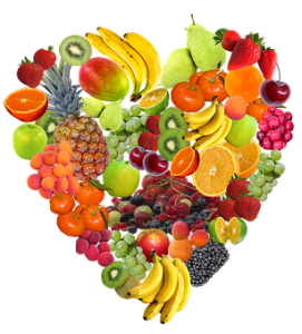 AMAZING PHOTO OF OVER 30 DIFFERENT FRUITS INT THE SHAPE OF A HEART