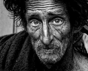 Photo of a man living on the street. One of many grateful to Tony.