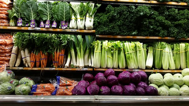 excellent display of different vegetables