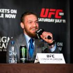 Connor McGregor fronts the media