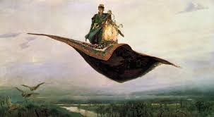 Flying on a magic carpet over the earth