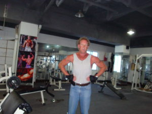 Me, Paul at the gym working out