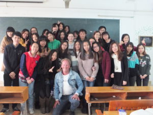 "Paul 'The Professor"" in China Guangzhou with my Chinese students."
